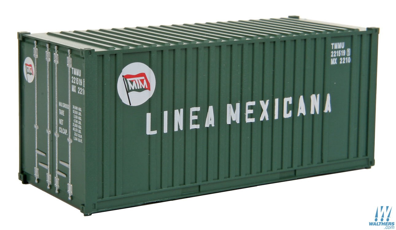 Walthers SceneMaster #949-8008  HO 20' Fully Corrugated Container
