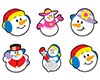 T 46065 SUPER SNOW FRIENDS MINI STICKERS