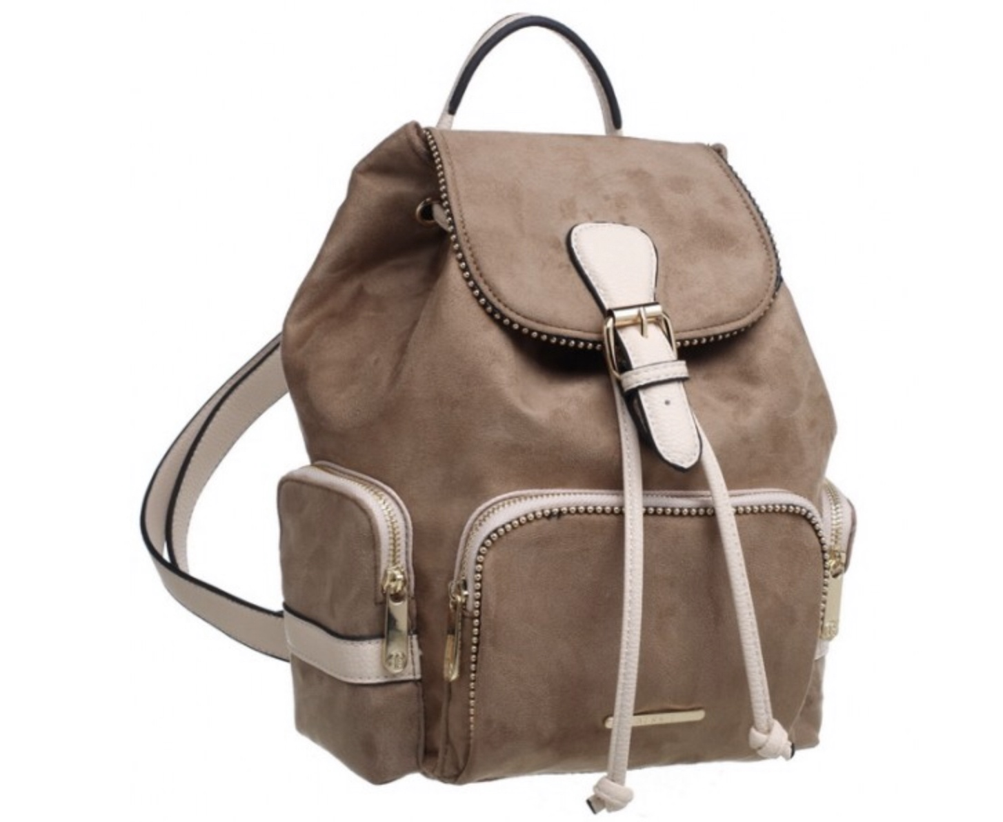 Ruby Buckle Front two tone Backpack