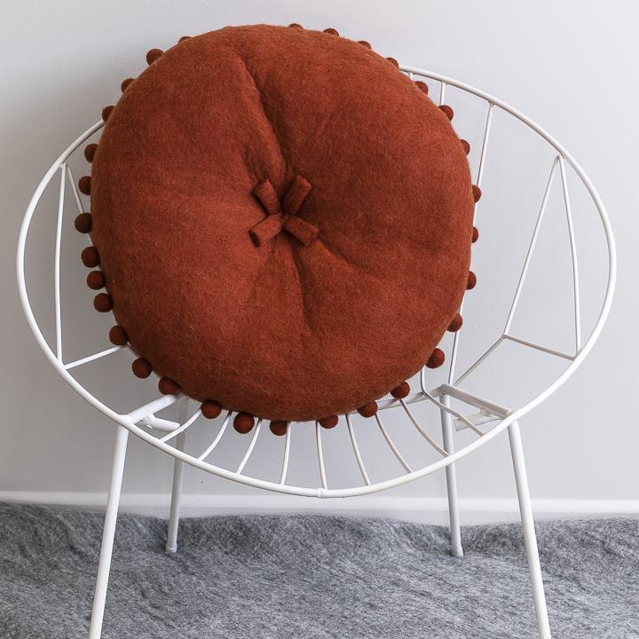 FELT CUSHION - BRICK