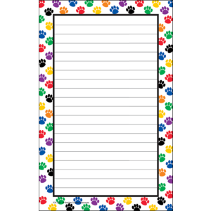 TCR 5087 PAW PRINTS 50 SHEET NOTEPAD