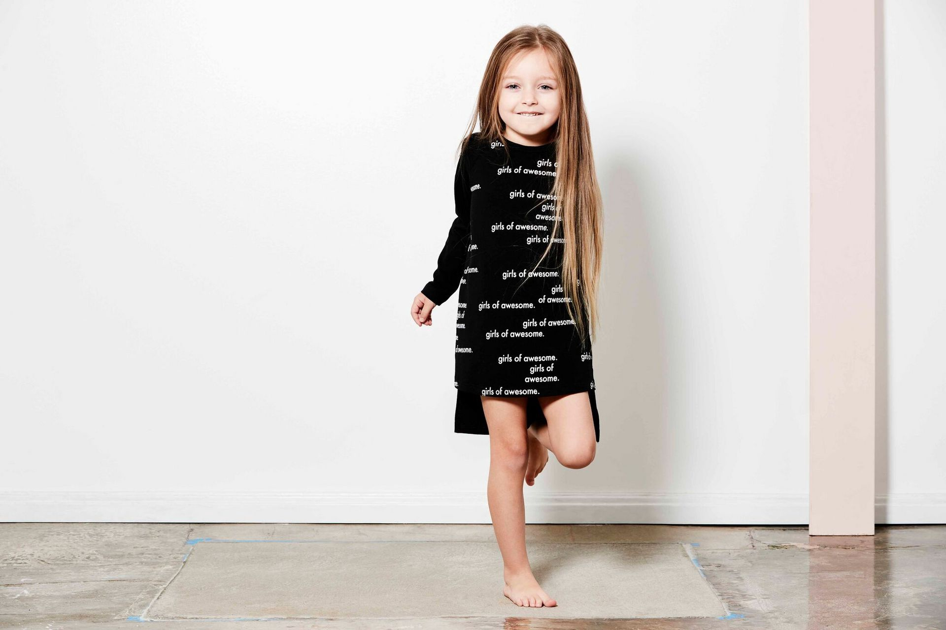 Tiny Tribe Girls of Awesome LS Dress
