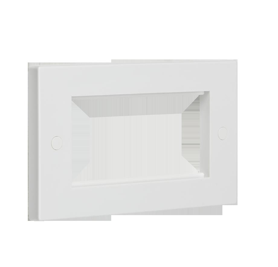 4G White Modular Faceplate