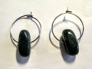 Hoop Pounamu Earrings