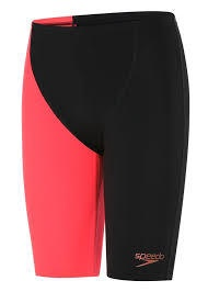 Boys Endurance+ High Waisted Jammer Black/Siren Red