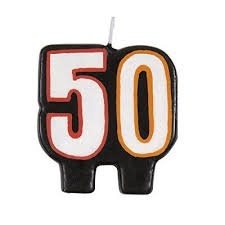 BIRTHDAY CANDLE 50