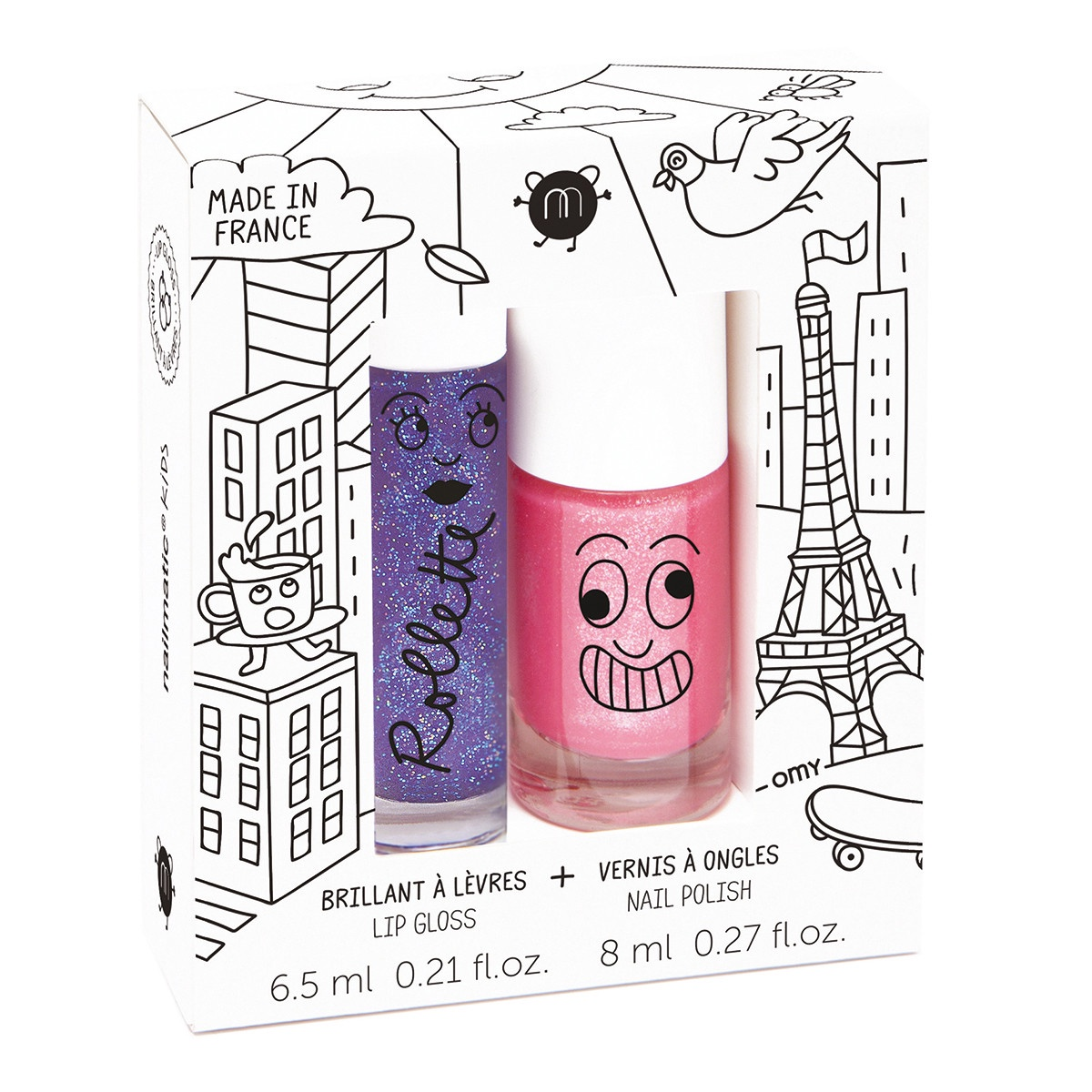 LOVELY CITY ROLLETTE NAIL POLISH DUO SET