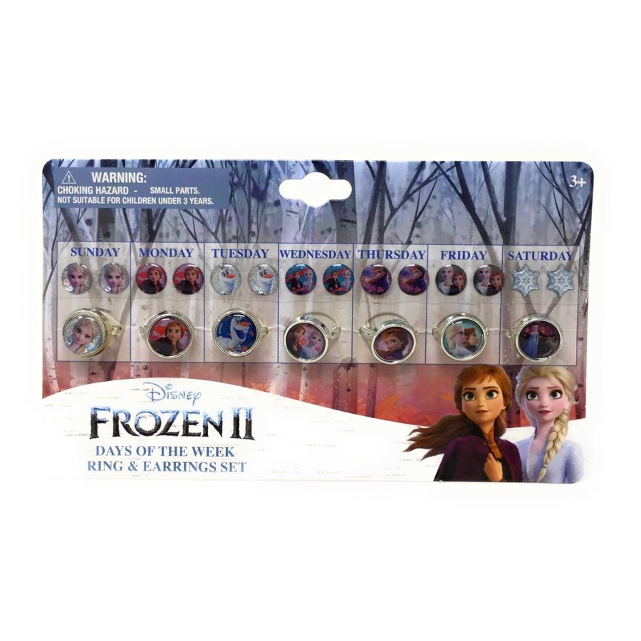 FROZEN 2 DAYS OF THE WEEK EARRING AND RING SET