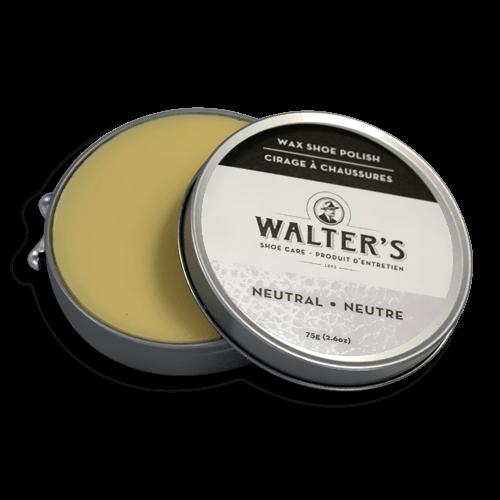 WALTER'S SHOE CARE - NEUTRAL WAX POLISH