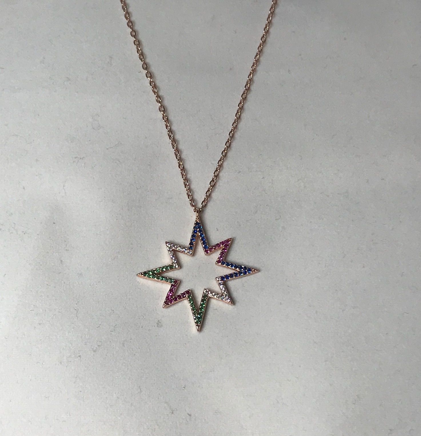Multi Colours Star Necklace