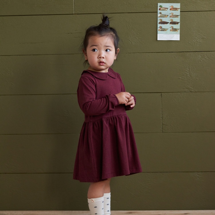 EDITH DRESS - SMALL SPECKLE MULBERRY