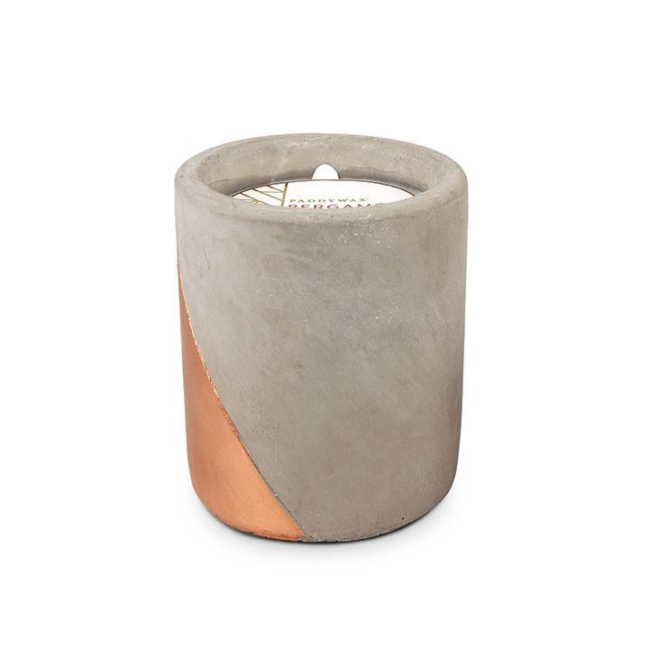 PADDYWAX - URBAN CONCRETE POT 12 OZ IN BERGAMOT AND MAHOGANY