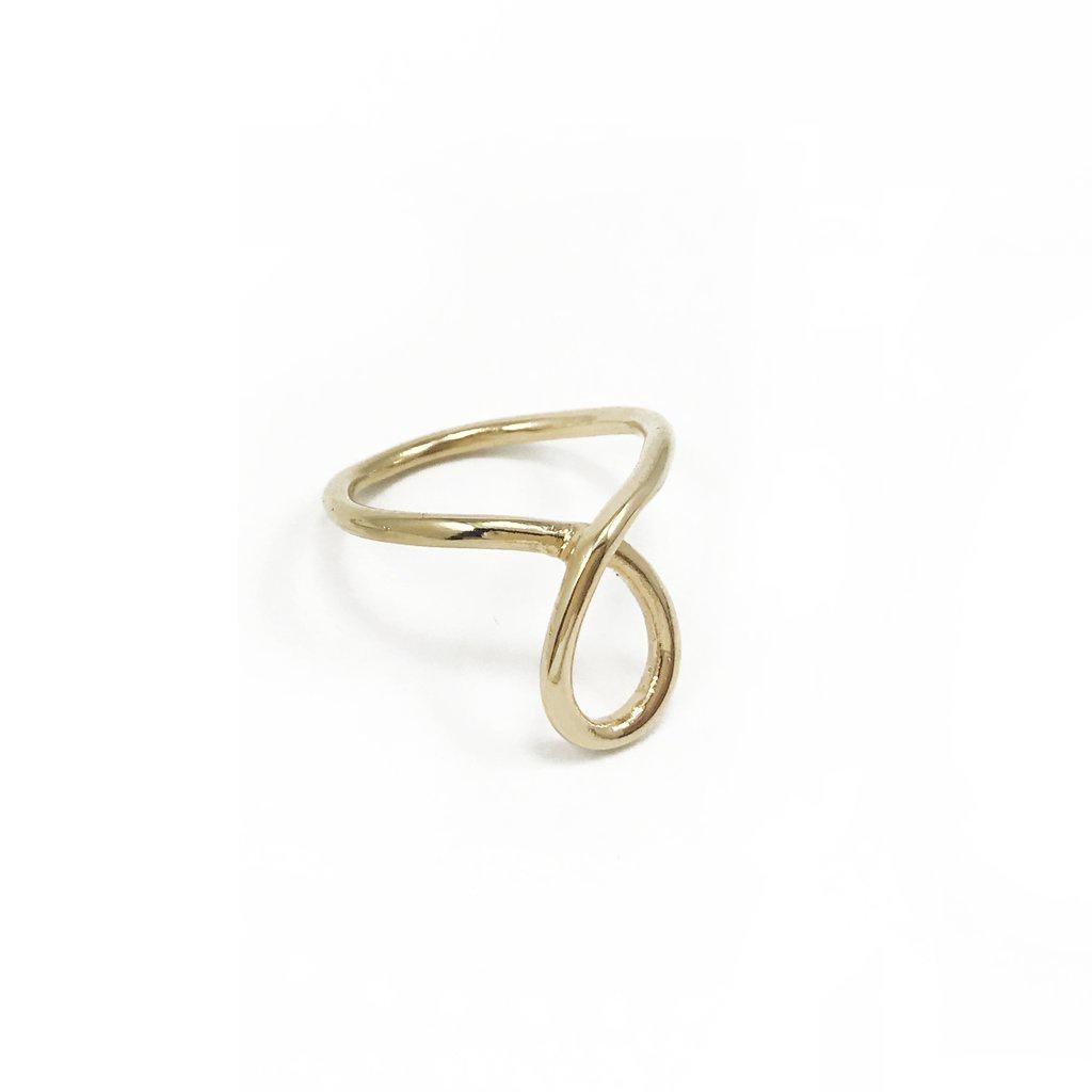 BIKO - SCRIPT RING IN GOLD