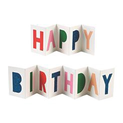 HAPPY BIRTHDAY BANNER GIFT ENCLOSURE