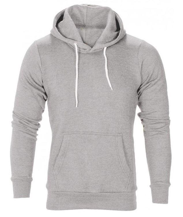 Menswear Light Grey Flex Fleece Pullover Hoody