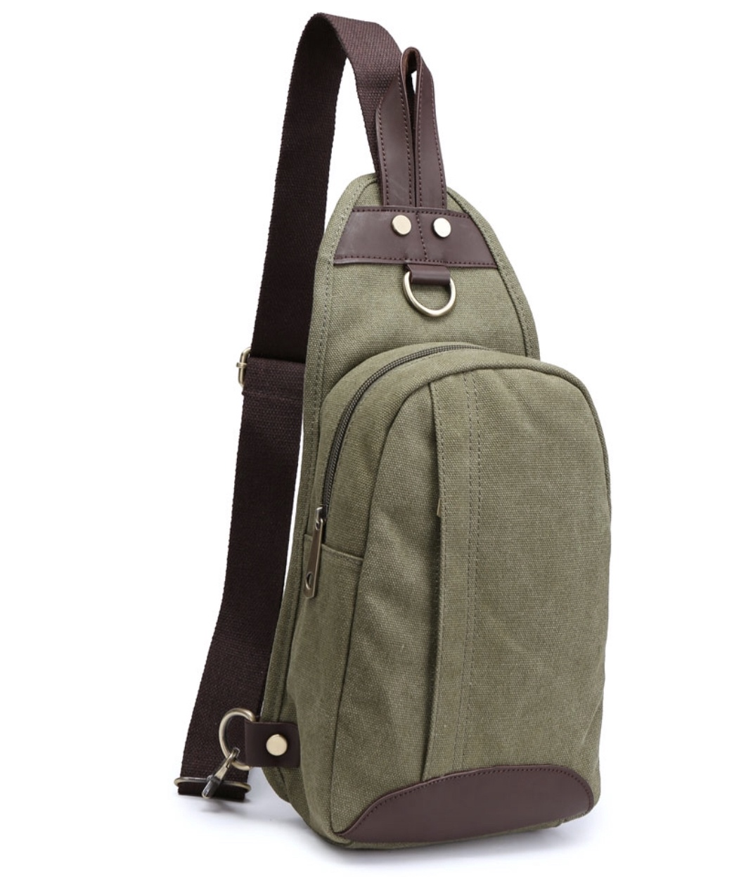 William Canvas Sling Bag ( available in Coffee & Green)