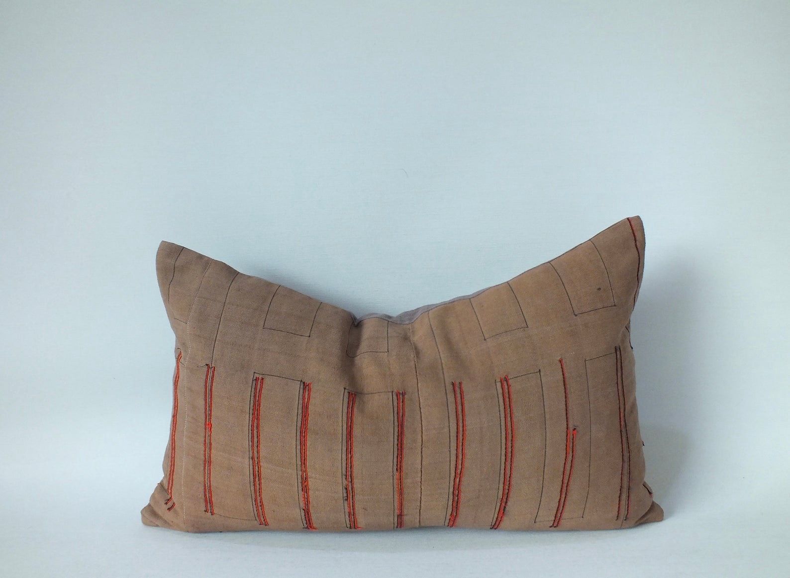 Vintage Brown Hemp Pillow