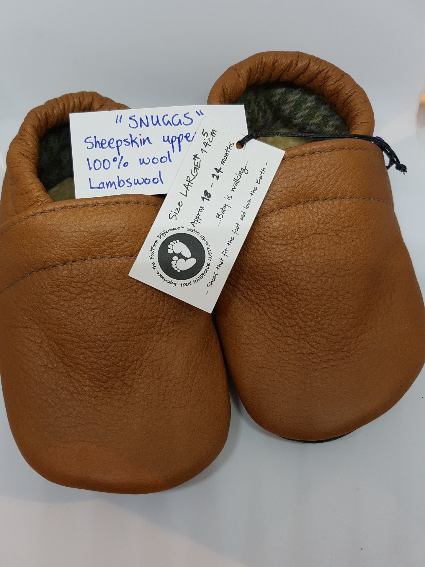 Leather Snuggs - fit approx 18-24 months