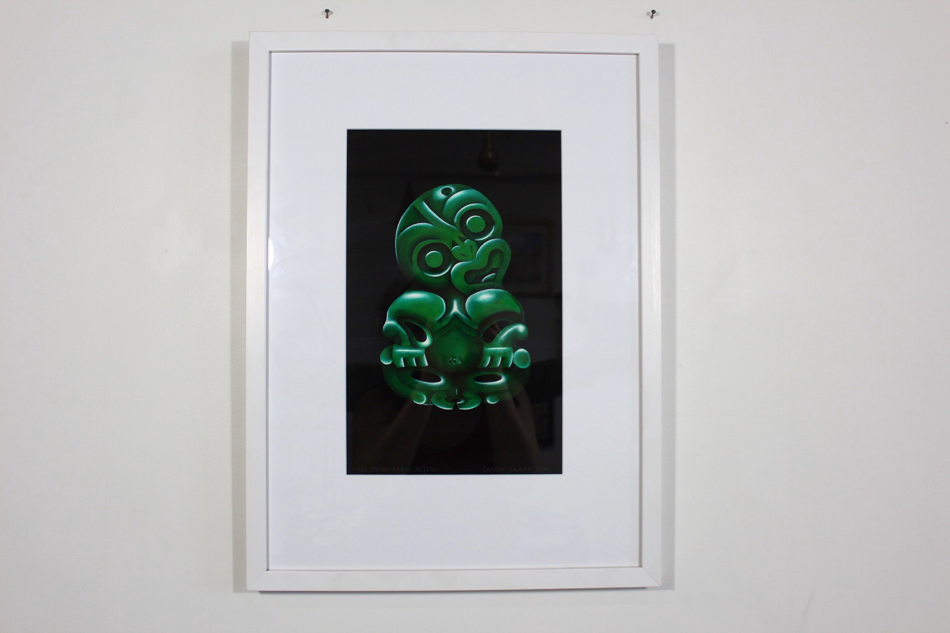 Tiki Pounamu Print Framed