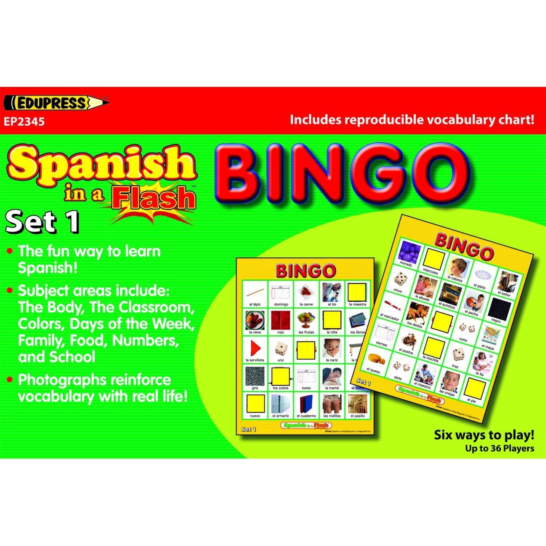 EP 62345 SPANISH IN A FLASH BINGO