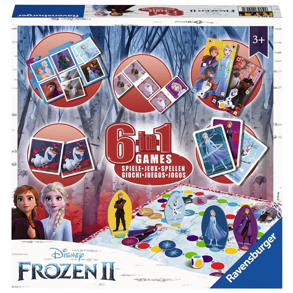FROZEN 6 IN 1 GAMES BOX