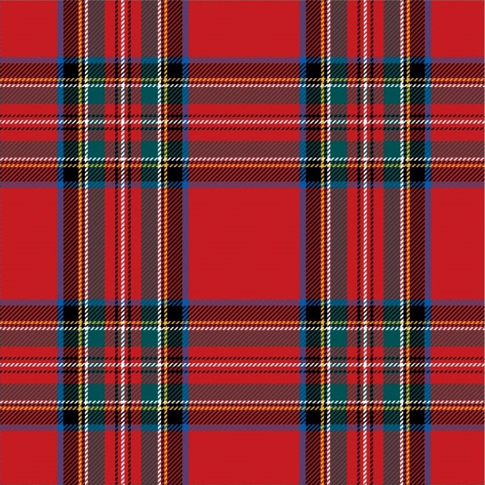 Paper Placemats The Kilt Matte Square 30pk