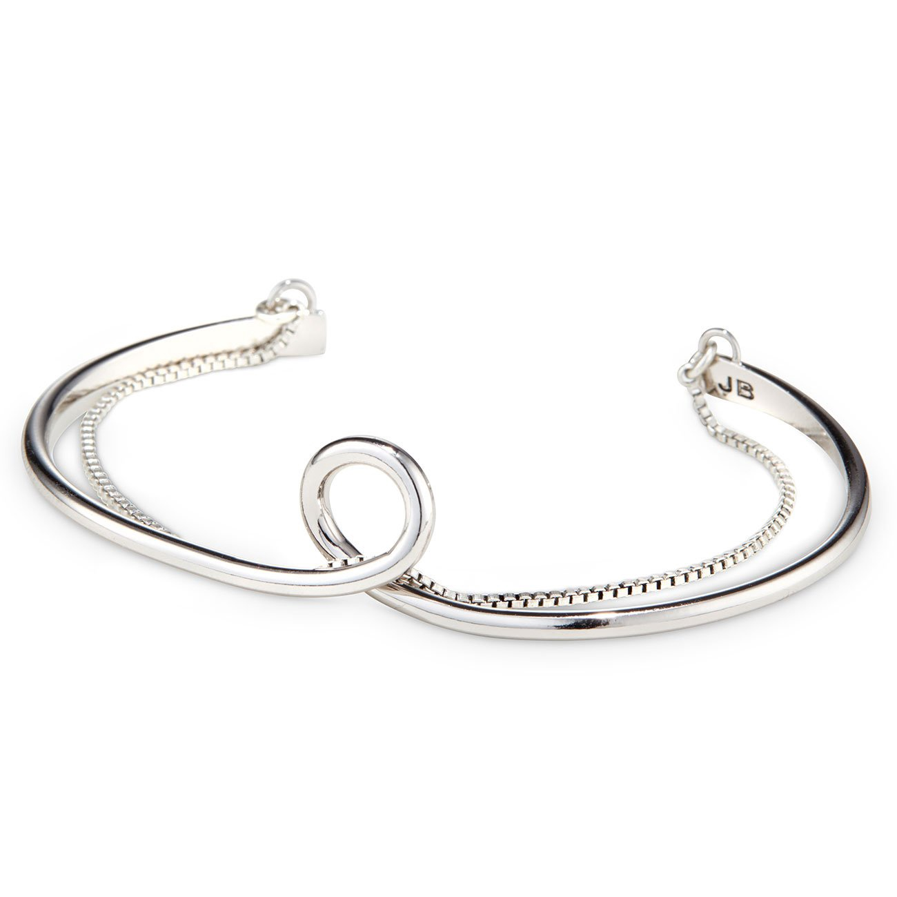 JENNYBIRD - THE LOOP CUFF IN RHODIUM/SILVER