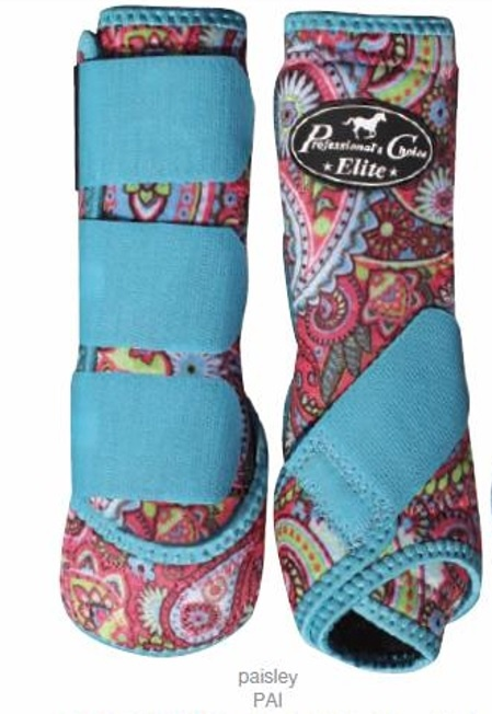 Professional's Choice Elite Sport Medicine Boot 4 Pack Paisley