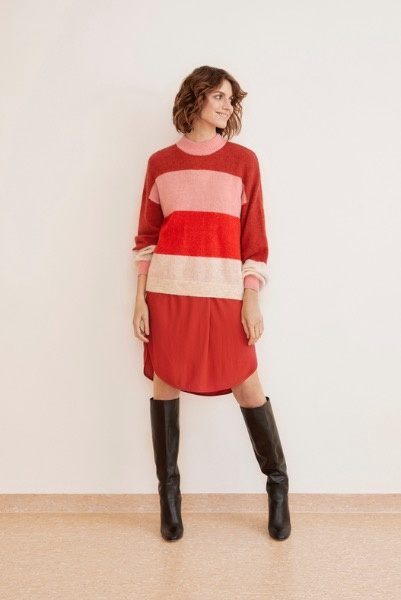 Part Two Tate Pullover Stripe Red