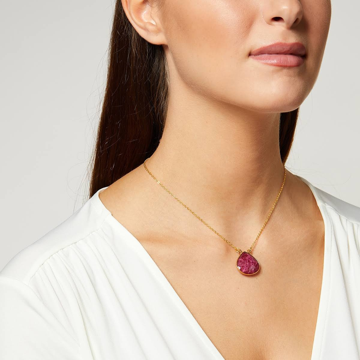 Acapulco Gemstone Pendant Necklace by Ashiana