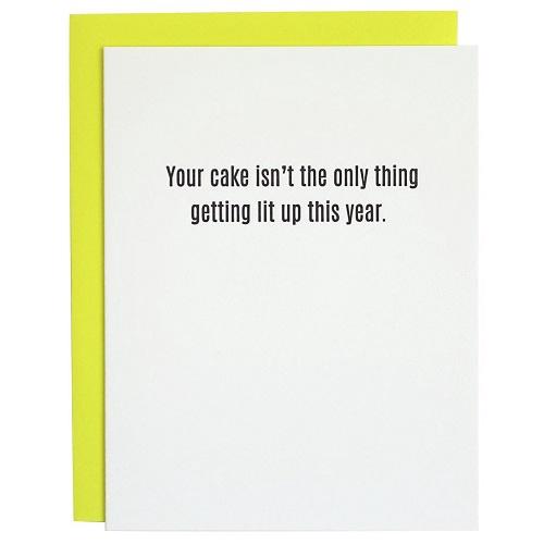 Cake Lit Up Card