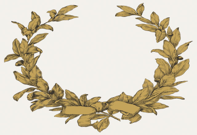 Gold Wreath Placecards
