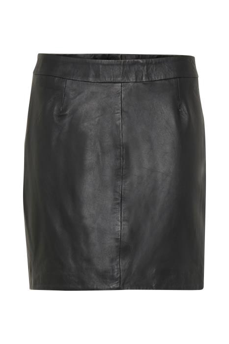 Fransa Real Leather Skirt