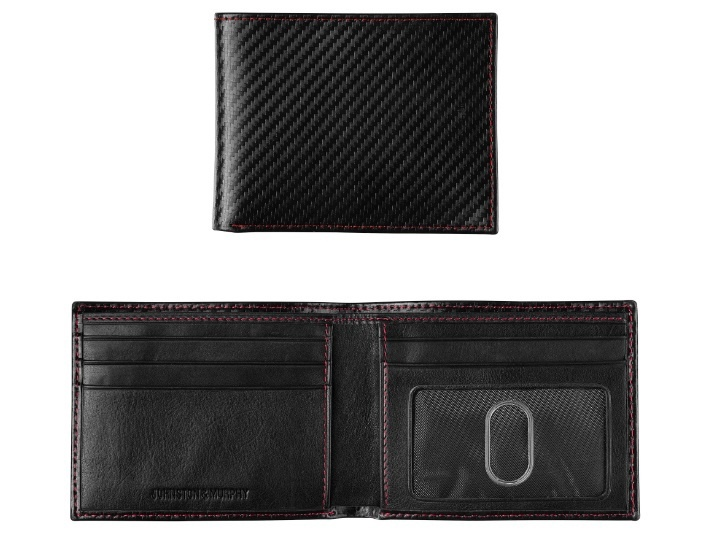JOHNSTON & MURPHY - NYLON SLIMFOLD WALLET IN BLACK