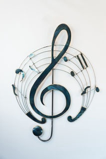 treble cleft music wallart