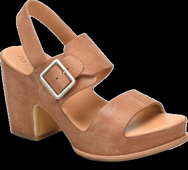 San Carlos Brown Block Heel Sandal