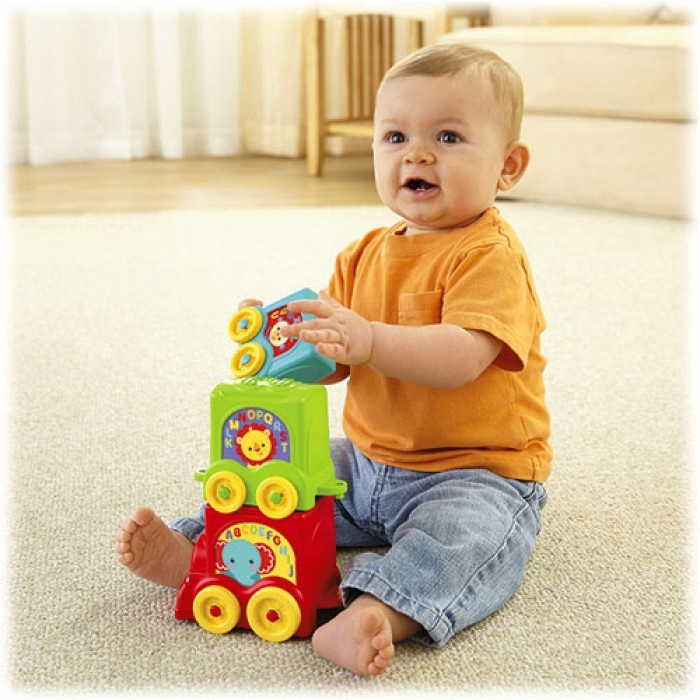 FISHER-PRICE INFANT STACK & ROLL CHOO CHOO