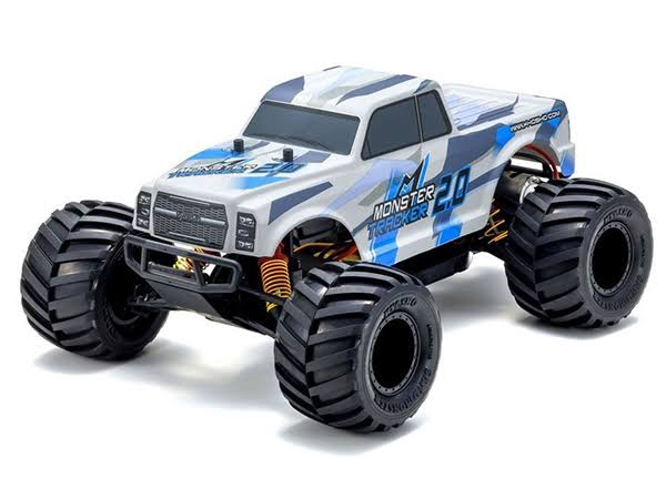 Kyosho #34404T1B  Monster Tracker 1/10 RTR Monster Truck (Blue and White)