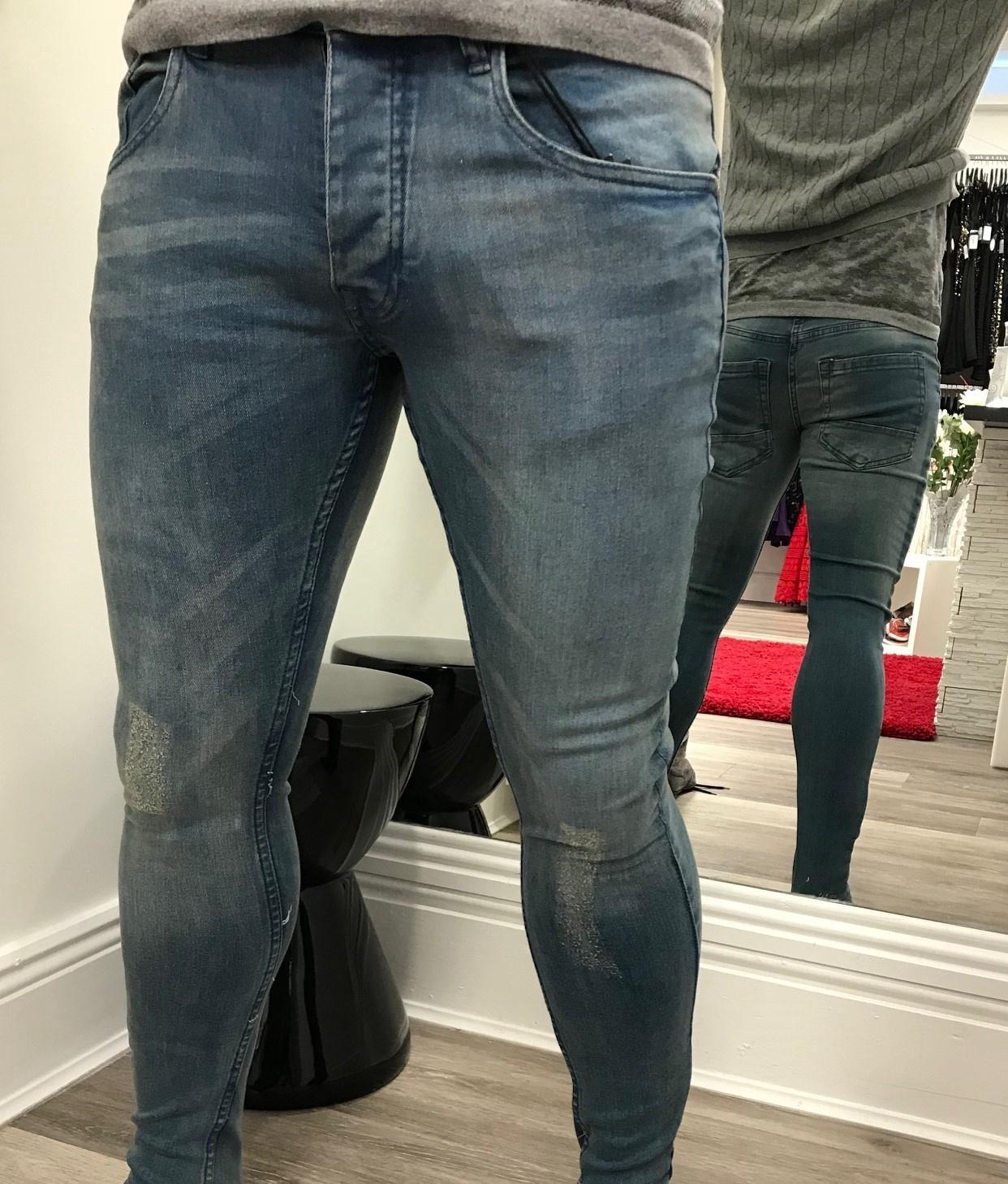 Menswear Blue Wash Jeans