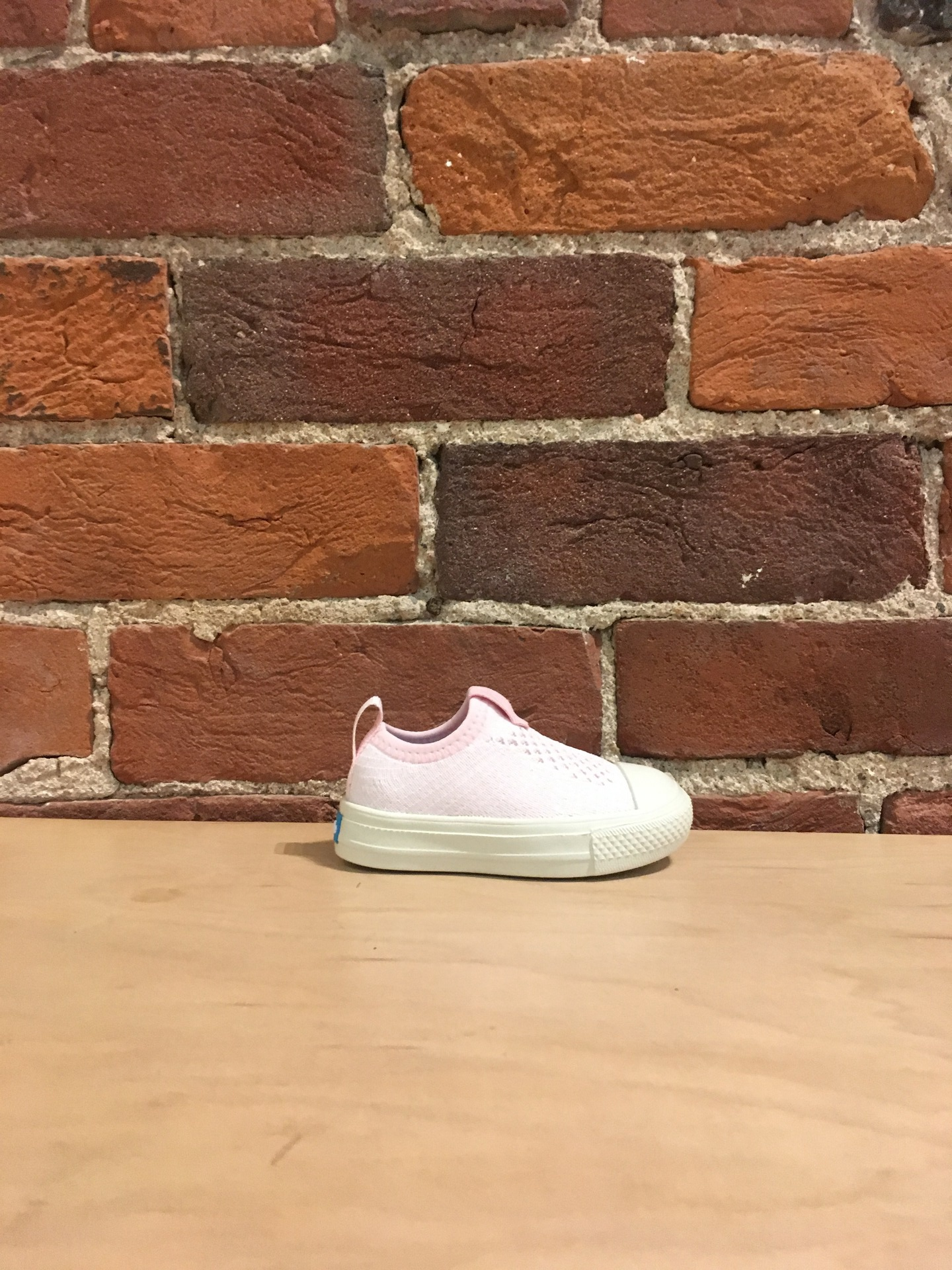 PEOPLE FOOTWEAR - THE PHILLIPS CHILD KNIT IN CUTIE PINK/YETI WHITE