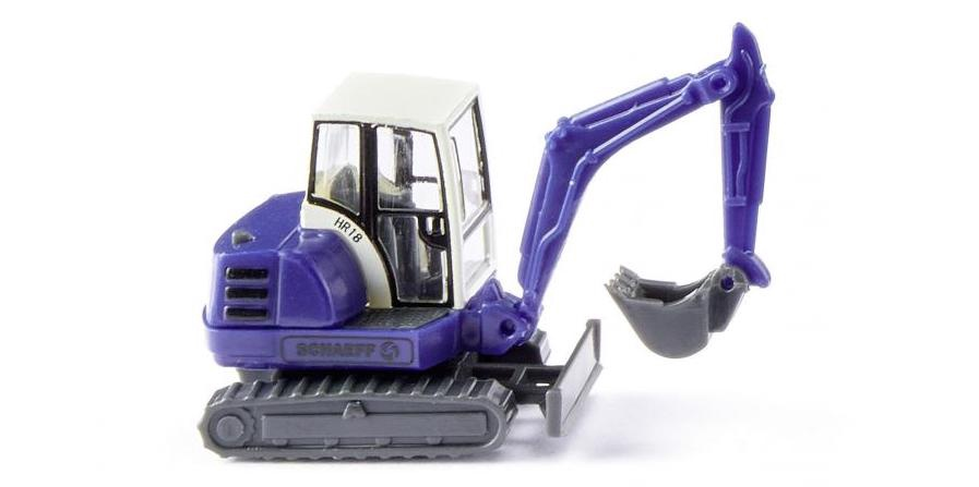 Wiking #0946 N Scale THW - Mini-excavator HR 18