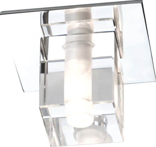IP65 LV Decorative Square Glass Fitting (comes with lamp)