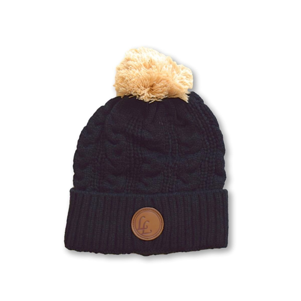 Little Lords Black POM Beanie