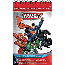 STICKERLAND ACTIVITY PAD JUSTICE LEAGUE