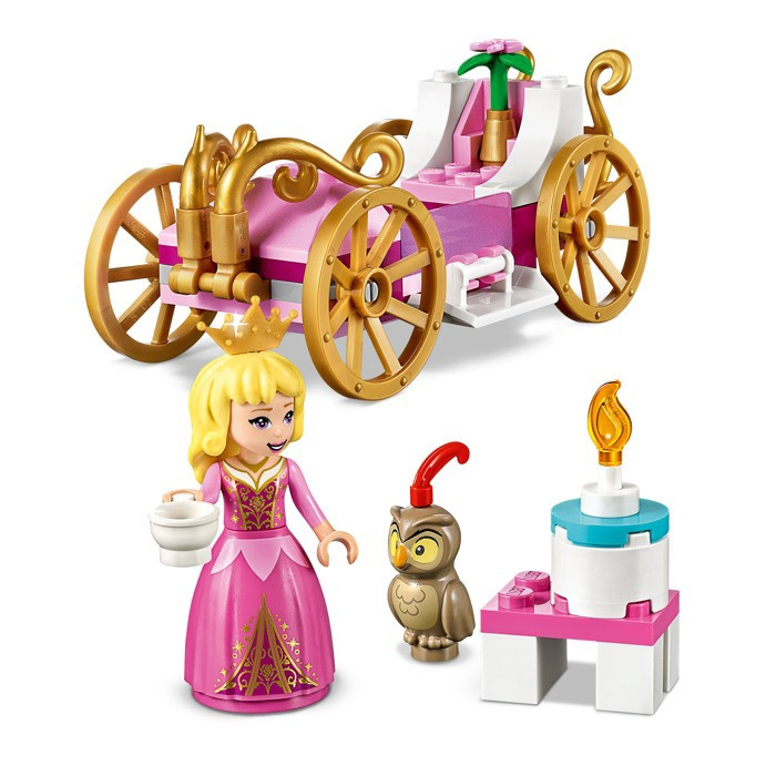 AURORA'S ROYAL PINK & WHITE CARRIAGE
