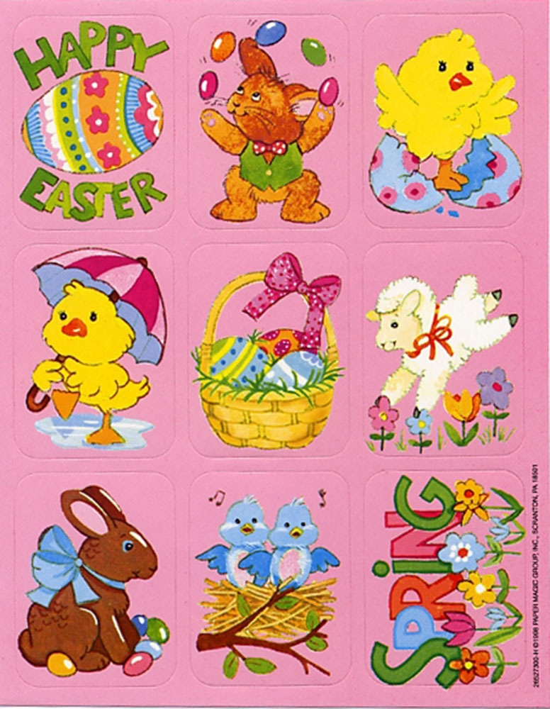 EU 670410 EASTER STICKERS