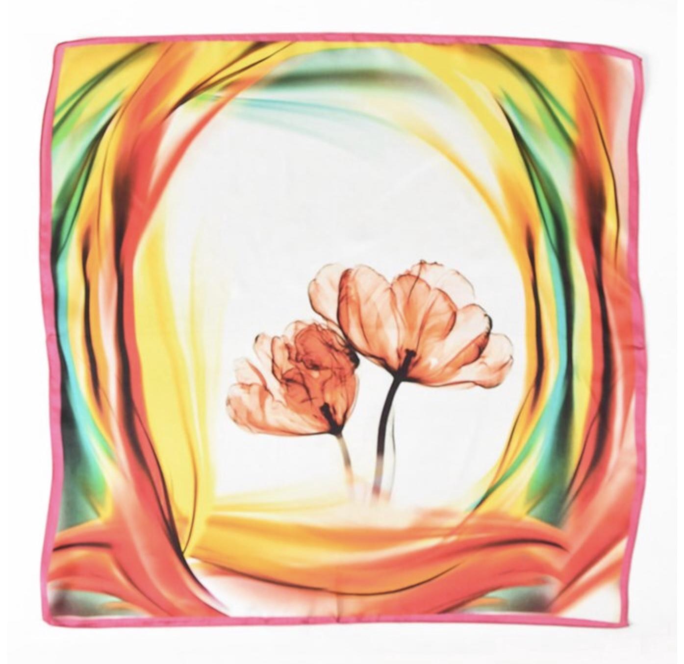 Silk Orange Tulip Scarf