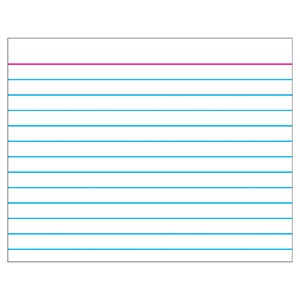 T 1096 WIPE OFF INDEX CARD WHITE CHART