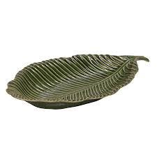 Caden Leaf Plate - Green