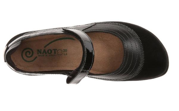 4a1fd85ab0d939 Naot Women s Kirei - Black Madras Leather Black Suede Black Patent Leat